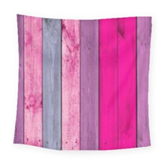 Pink Wood Square Tapestry (large)