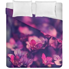Blurry Flowers Duvet Cover Double Side (california King Size) by Brittlevirginclothing