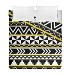 Black bohemian Duvet Cover Double Side (Full/ Double Size) by Brittlevirginclothing