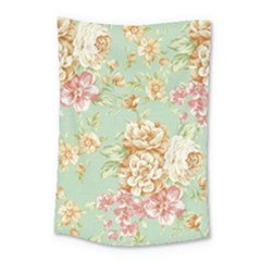 Vintage Pastel Flower Small Tapestry by Brittlevirginclothing