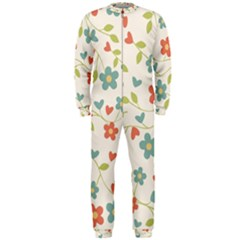 Abstract Vintage Flower Floral Pattern Onepiece Jumpsuit (men)
