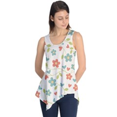 Abstract Vintage Flower Floral Pattern Sleeveless Tunic by Amaryn4rt