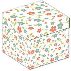 Abstract Vintage Flower Floral Pattern Storage Stool 12   by Amaryn4rt