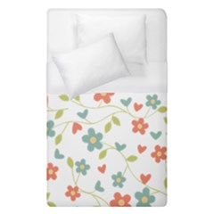 Abstract Vintage Flower Floral Pattern Duvet Cover (single Size) by Amaryn4rt