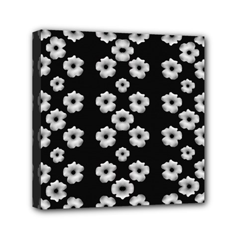 Dark Floral Mini Canvas 6  X 6  by dflcprints