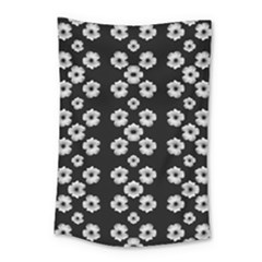 Dark Floral Small Tapestry by dflcprints