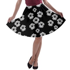 Dark Floral A Line Skater Skirt by dflcprintsclothing