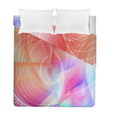Background Nebulous Fog Rings Duvet Cover Double Side (full/ Double Size) by Amaryn4rt
