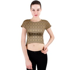 Background Seamless Repetition Crew Neck Crop Top