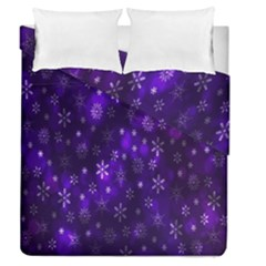 Bokeh Background Texture Stars Duvet Cover Double Side (Queen Size) by Amaryn4rt