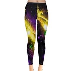 Galaxy Deep Space Space Universe Stars Nebula Leggings  by Amaryn4rt