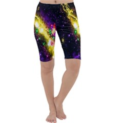 Galaxy Deep Space Space Universe Stars Nebula Cropped Leggings  by Amaryn4rt