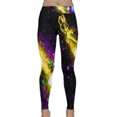 Galaxy Deep Space Space Universe Stars Nebula Classic Yoga Leggings by Amaryn4rt