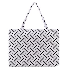 Geometric Pattern Medium Zipper Tote Bag