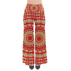 Gold And Red Mandala Pants