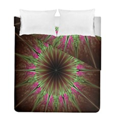 Julian Star Star Fun Green Violet Duvet Cover Double Side (full/ Double Size) by Amaryn4rt