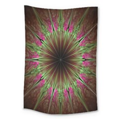 Julian Star Star Fun Green Violet Large Tapestry by Amaryn4rt