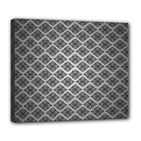 Silver The Background Deluxe Canvas 24  X 20   by Amaryn4rt