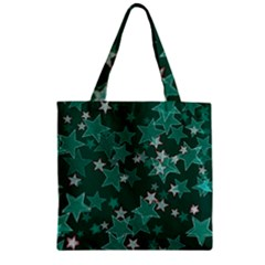 Star Seamless Tile Background Abstract Zipper Grocery Tote Bag by Amaryn4rt