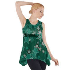 Star Seamless Tile Background Abstract Side Drop Tank Tunic by Amaryn4rt