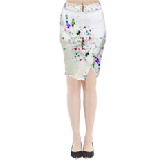 Star Structure Many Repetition Midi Wrap Pencil Skirt by Amaryn4rt