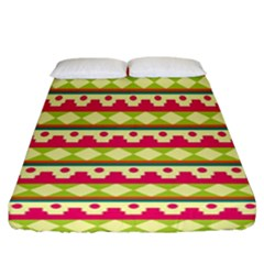 Tribal Pattern Background Fitted Sheet (california King Size)