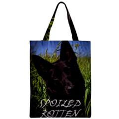 Black German Shepherd Spoiled Rotten Zipper Classic Tote Bag by TailWags
