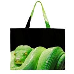 Green Tree Python Large Tote Bag