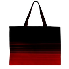 Abstract Of Red Horizontal Lines Zipper Mini Tote Bag by Amaryn4rt