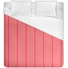 Background Image Vertical Lines And Stripes Seamless Tileable Deep Pink Salmon Duvet Cover (king Size) by Amaryn4rt