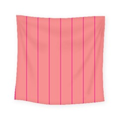 Background Image Vertical Lines And Stripes Seamless Tileable Deep Pink Salmon Square Tapestry (small) by Amaryn4rt