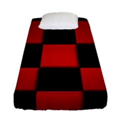 Black And Red Backgrounds Fitted Sheet (single Size) by Amaryn4rt
