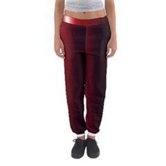 Black And Red Women s Jogger Sweatpants by Amaryn4rt