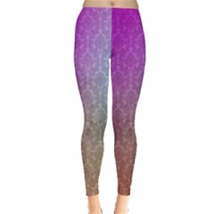 Blue And Pink Colors On A Pattern Leggings