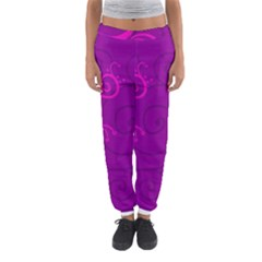 Floraly Swirlish Purple Color Women s Jogger Sweatpants by Amaryn4rt