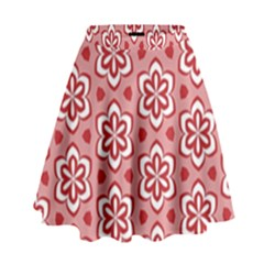 Floral Abstract Pattern High Waist Skirt by Amaryn4rt