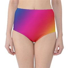 Rainbow Colors High Waist Bikini Bottoms