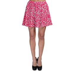 Template Deep Fluorescent Pink Skater Skirt by Amaryn4rt
