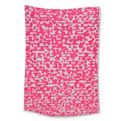 Template Deep Fluorescent Pink Large Tapestry