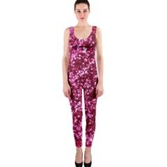 Pink Glitter Onepiece Catsuit by Amaryn4rt