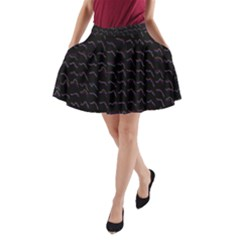 Smooth Color Pattern A Line Pocket Skirt by Amaryn4rt