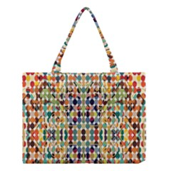 Retro Pattern Abstract Medium Tote Bag by Amaryn4rt