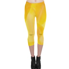 Yellow Pattern Painting Capri Leggings