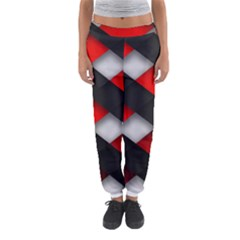 Red Textured Women s Jogger Sweatpants by Amaryn4rt
