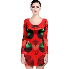 Abstract Digital Design Long Sleeve Velvet Bodycon Dress by Amaryn4rt