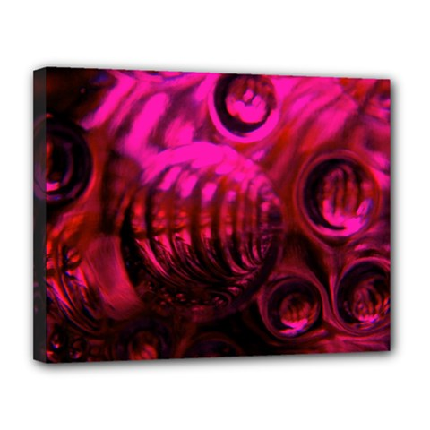 Abstract Bubble Background Canvas 14  X 11  by Amaryn4rt