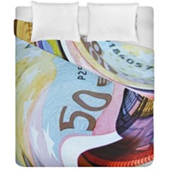 Abstract Currency Background Duvet Cover Double Side (california King Size)