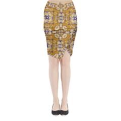 Abstract Elegant Background Card Midi Wrap Pencil Skirt