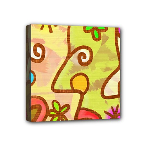 Abstract Faces Abstract Spiral Mini Canvas 4  X 4  by Amaryn4rt