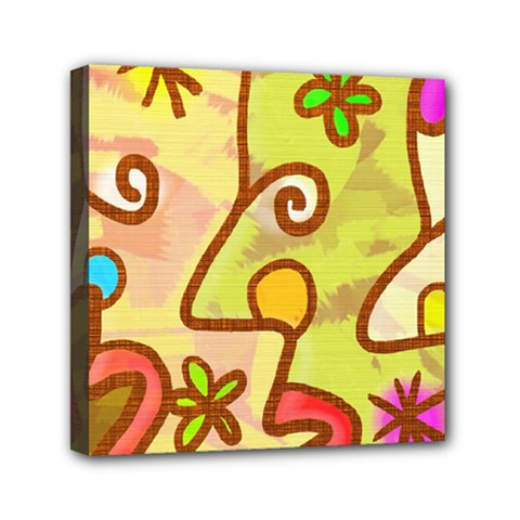 Abstract Faces Abstract Spiral Mini Canvas 6  X 6  by Amaryn4rt